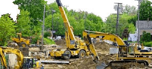 GPS construction equipment tracking